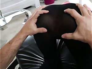 August Ames pulverized through her yoga pants