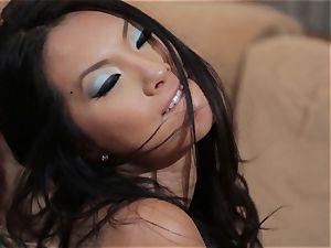 Asa Akira and Jessica Drake wild three-way penetrating
