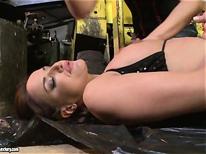 Andy chocolate-colored and Kathia Nobili rump dildoing firm