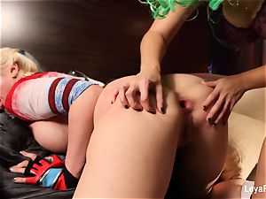 Whorley Quinn Leya gets nailed firm by She Joker Nadia