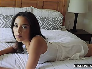 Cheeky stepsister sleepfucked by brother
