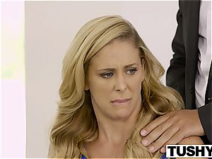TUSHY first-ever rectal For red-hot wife Cherie Deville