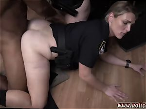 steaming cougar ginormous sausage and mature ash-blonde getting nailed first-ever time raw video grabs cop screwing
