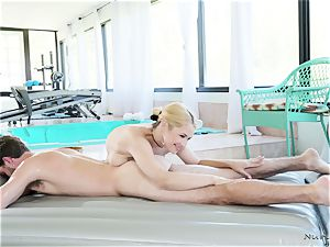 big-titted masseuse In act
