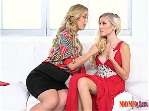 puss pie stepmom entices her stepdaughter Naomi forest & Cherie Deville