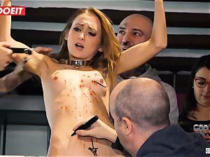 Ukrainian babe Gets multiple orgasms in warm bdsm soiree