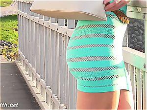 Jeny Smith's semitransparent dress
