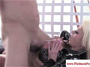 Nikita Von James gets mouthhole of jism after plumbing