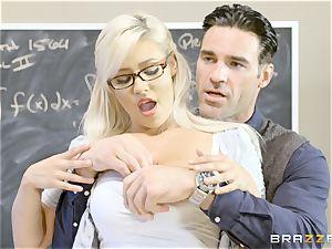wild student Kylie Page plumbs her teacher
