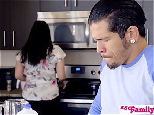 Brat Gets manhood And jizm In Kitchen! - MyFamilyPies S4:E5