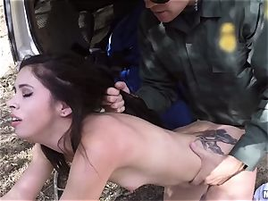 Border Patrol caught and punished youthfull immigrant Taylor Reed