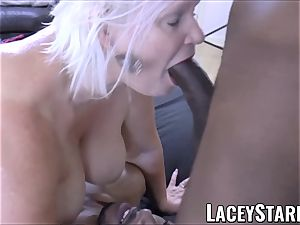 LACEYSTARR - bbc dual crew works on naughty granny