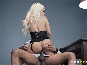 Bad ass Bridgette B smashed by a throbbing black stiffy