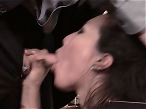 Asa Akira plows fleshy man-meat over the office desk