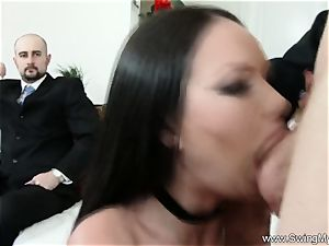 Exotic Swinger wife nails Another guy