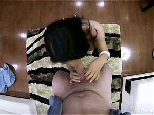 handsome Romi gives a red-hot point of view dt and plow