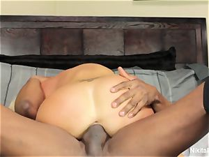 red-hot towheaded milf gets a gigantic ebony chisel to play with