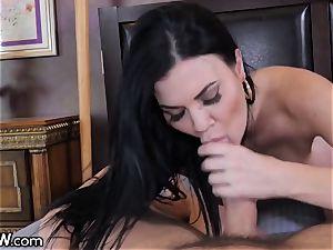 ample father hard-on popshot ginormous tit English mummy Jasmine Jae