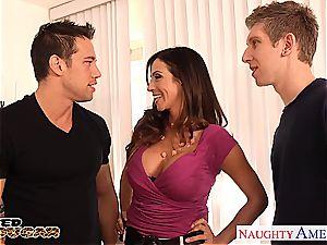 cougar Ariella Ferrera needs two weenies to smash her properly