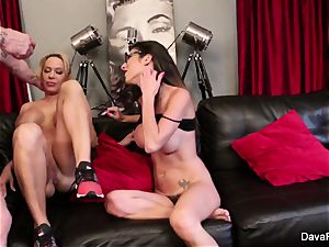 point of view blowing and porking with Dava Foxx and Alyssa Lynn
