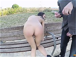saucy Latina ass fucking pulverized in public