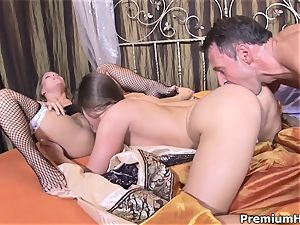 horny spanish maid and rump to hatch 3 way