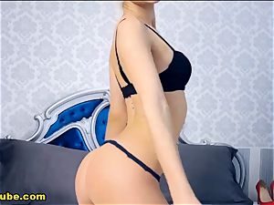 hot platinum-blonde unwrap demonstrate And web cam play