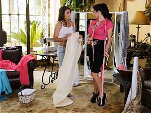 Adria Rae seduced by sumptuous seamstress Veronica Avluv