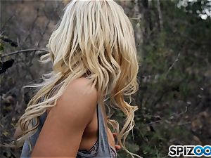 towheaded sweeties Sarah Vandella and Alix Lynx smash with masked dude