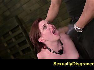 FetishNetwork Emma Evins double penetration restrain bondage sex and inhale