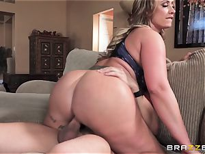 Eva Notty hungers extra cum topping from pizza fellow