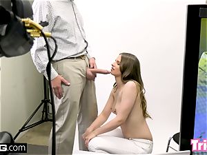 Jillian Janson gets tricked into plumbing on a audition