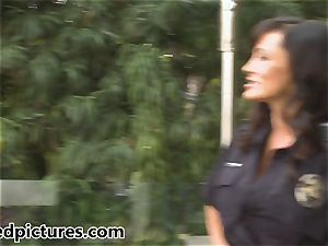 busty cop Lisa Ann gives out her cock penalty