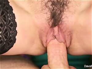 black-haired sweetheart Dava gets pounded pov fashion
