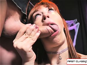 first-ever Class point of view - Alexa Nova blowing a gigantic bone in point of view