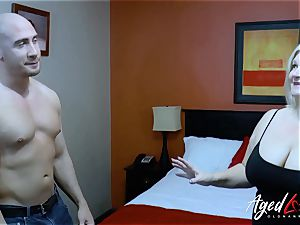 AgedLovE comfortable stud Seduced by Mature dame