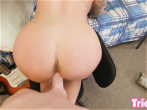 Trickery Ivy Lebelle fucks a college student in dorm