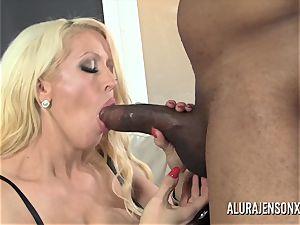 meaty breast pornstar Alura Jenson enjoys thick black fuck-stick