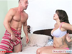 buxomy dark-haired honey Cassidy Banks gets torn up