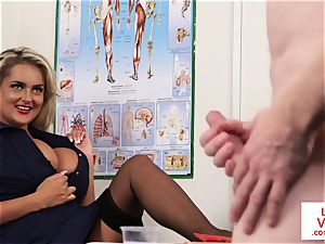 CFNM hidden cam nurse training jerkoff