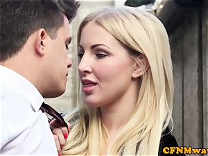 female dominance Chantelle Fox and pal blowjob activity