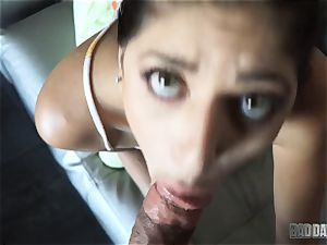 Lexy Rose pov sucking action with stepdad
