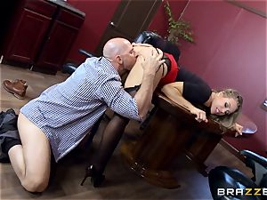 hot boss Nicole Aniston taking a thick boner in the office