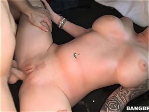 Roxii Blair fucked rock-hard on the Bangbus