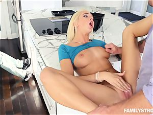 Tiffany Watson deep-throating off her step brother