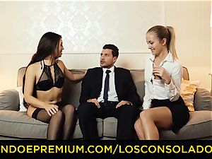 LOS CONSOLADORES - super-fucking-hot honeys instruct fuck-a-thon with executive