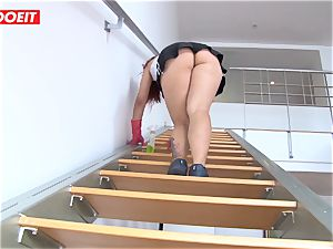 Latina maid agrees to penetrate boy for a bigger tip