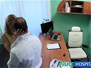 FakeHospital nice platinum-blonde patient gets labia exam