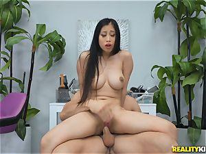 Jade Kush riding on a firm spear