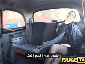 fake cab Czech damsel thirsts a rock-hard trouser snake